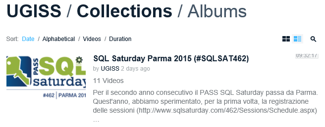 SQL Saturday Parma 2015 Album Vimeo