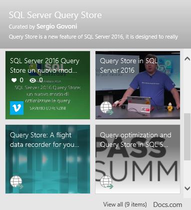 SQL Server 2016 Query Store (docs.com)