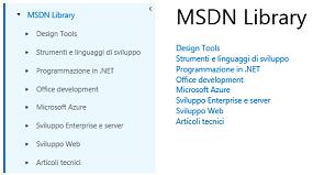 MSDN Library Articoli Tecnici Small