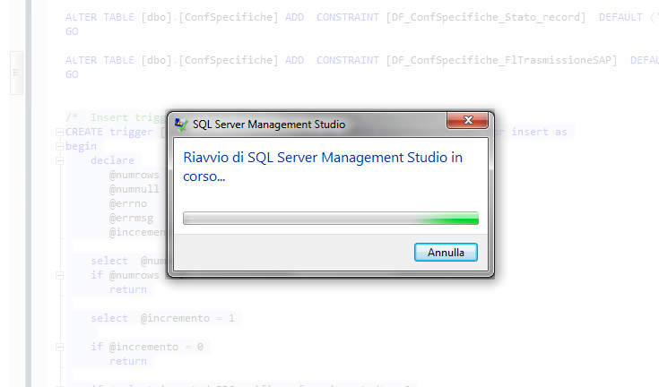 Management Studio crashed 2