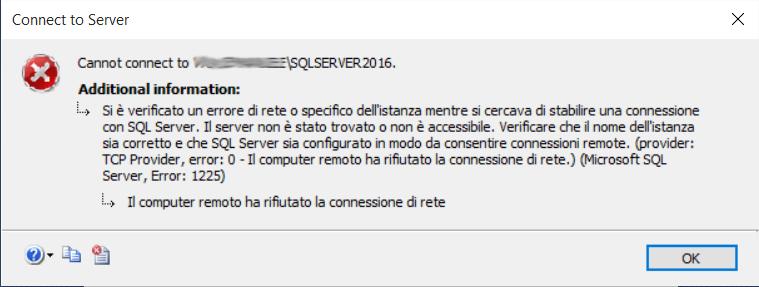 SQLServer 2016 non si avvia 1