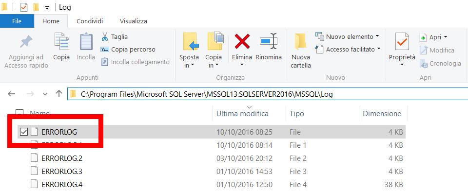SQLServer 2016 non si avvia 4