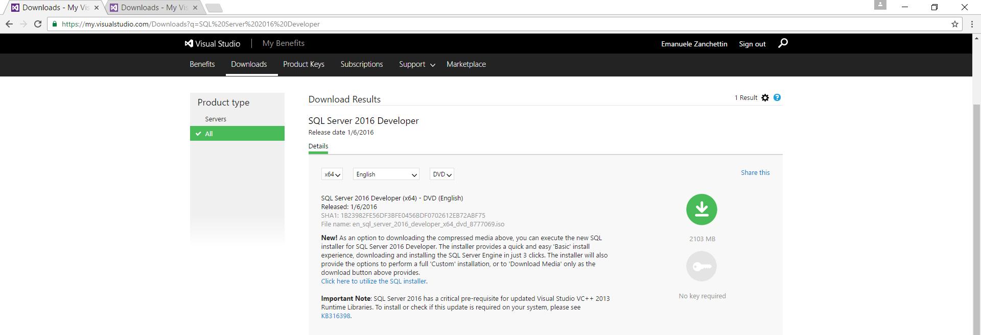 SQLServer 2016 non si avvia 6