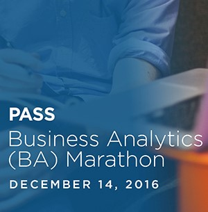 PASS BA Business Analytics Webinars (December 2016)
